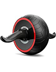 StaySmart Abdominal Exercises Workout Roller Wheel with Knee Pad, Self-retractable Abdominal Workout Equipment / Ab Wheel / Ab Roller for Perfect Six Pack & Home Gym