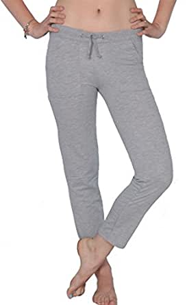 Beverly Rock Juniors French Terry Capri Workout Track Lounge Long Pants PP27 Hea Gray XL