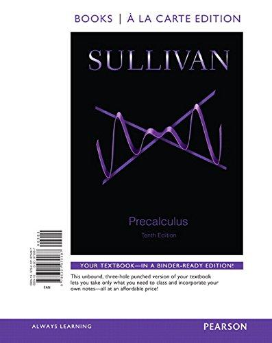 Precalculus (Looseleaf) W/Mymathlab