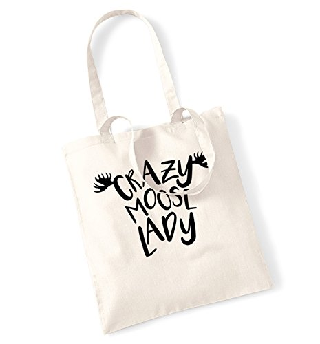 tote Natural Crazy bag Crazy moose moose lady nzYBIzX5q