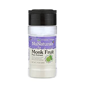 NuNaturals LoSweet Lo Han Guo (Monk Fruit) Extract Powder Zero-Calorie Sugar Substitute .71 Ounce