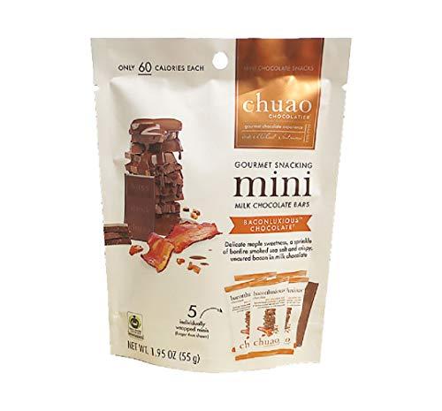 Chuao Chocolatier Gourmet Snacking 5 Mini Milk Chocolate Bars - Baconluxious ()