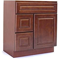 NGY Chestnut Chocolate 30 Vanity Cabinet Maple Wood CC-3021DL