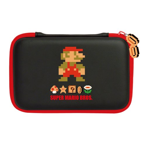 HORI XL Retro Mario Hard Pouch for Nintendo 3DS (Black)