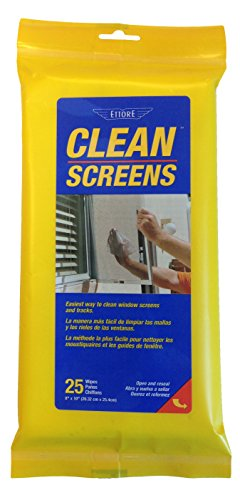 Ettore Clean Screens, 25 Wipes Per Pack (Best Way To Clean Windows With A Squeegee)