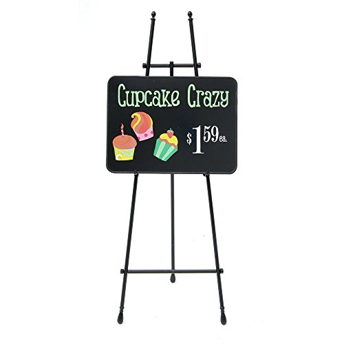 Aarco Black Marker Board with White Vinyl Trim - 24