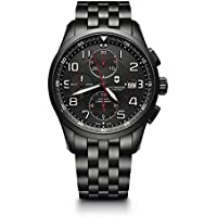 Victorinox Men's 'Airboss Black Edition' Automatic Stainless Steel Aviator Watch, Color:Black (Model: 241741)