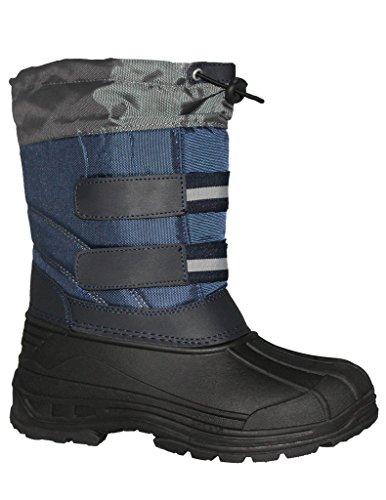 BIG BOY'S COLORBLOCK SNOW STOMPER WINTER BOOT,DK-BLUE/DK-GREY, SIZE - Snow Boots Big Boys Size 6