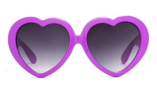 Gravity Shades Heart Shaped Lolita Sunglasses - Plum
