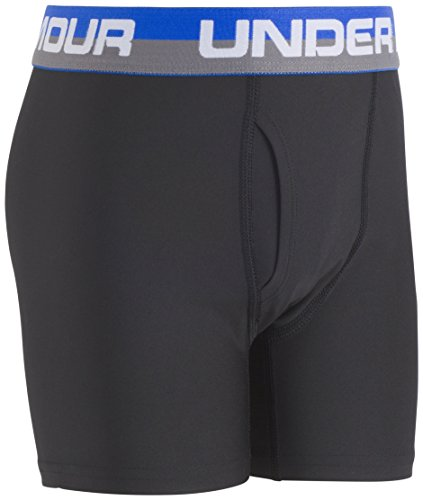 Under Armour Big Boys' 2 Pack Performance Boxer Briefs, Ultra Blue/Black, YSM by Under Armour (Image #5)