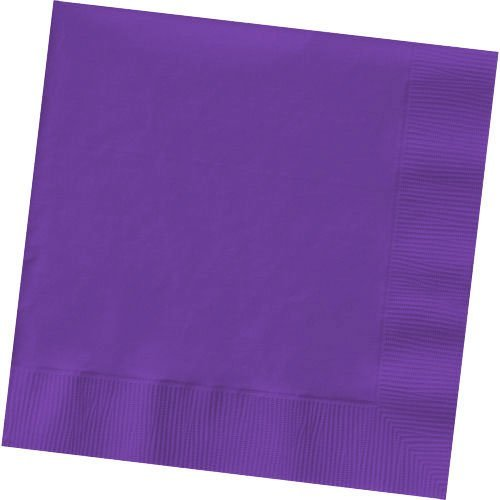 (Amscan Purple Beverage Napkins 50/pkg)