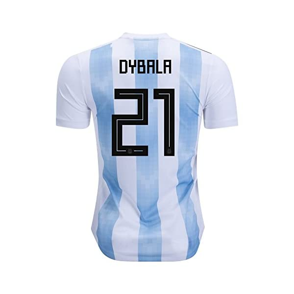bab46dcba1b Dybala  21 Jersey Argentina National Team Home 2018 Soccer Jersey Mens  White Blue ⋆ soccerstylenow