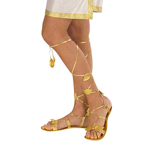 Golden Sandals Accessory For Toga Party Rome Sparticus Fancy Dress]()