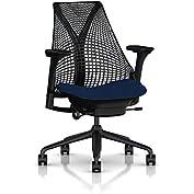 Herman Miller Sayl Task Chair: Tilt Limiter - Adj Seat Depth - Fully Adj Arms - Hard Floor Casters - Black Base...