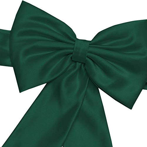 David's Bridal Satin Flower Girl Sash with Back Bow Style S1041, Juniper - Juniper Green Apparel