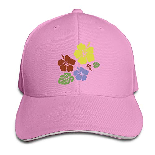 - SNMHILL Unisex Simple Colorful Flower Fashion Peaked Sandwich Hat Sports Adjustable Baseball Cap