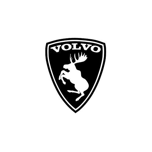 Volvo Prancing Moose Sticker 3 Inch Black with White - Symbol Ferrari