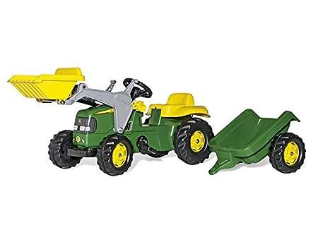 FS John Deere Pedal tractor con pala frontal y remolque cm Importado