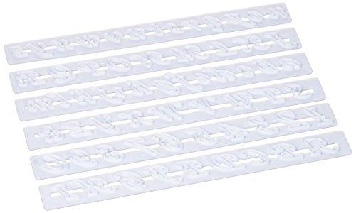 Pati-Versand White Plastic Dough Scraper 12308Alphabet Cutters 33x 9x 2cm