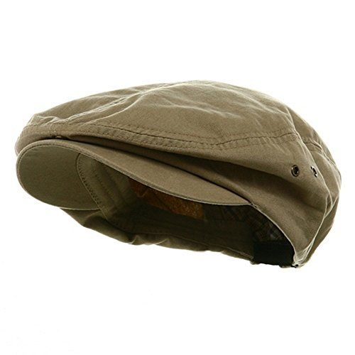 Mens Khaki Tan Washed Canvas Ivy Ascot Cabbie Cap for sale  Delivered anywhere in USA