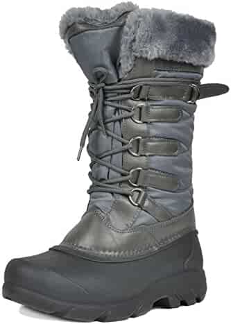 DREAM PAIRS Women's North Faux Fur Mid Calf Winter Snow Boots
