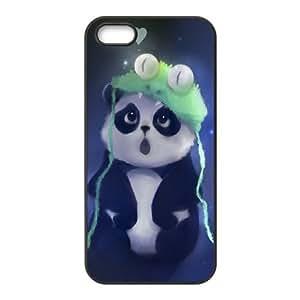 iPhone 5 5s Cell Phone Case Black Cute Panda Painting Y0N6UN