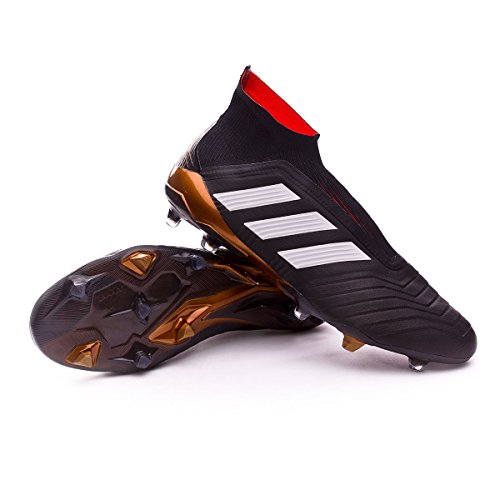 Predator Mens Soccer Cleats - adidas Men's Predator 18+ FG Soccer Cleat, 12.0 D(M) US, Core Black/Cloud White/Red