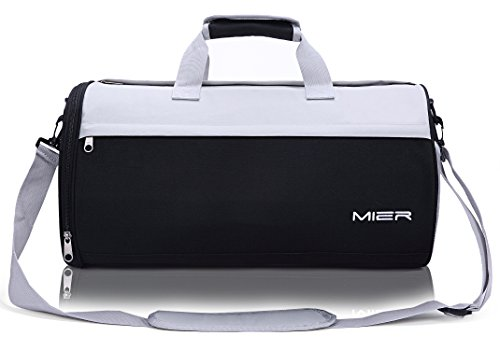 73a03136a28 MIER Barrel Travel Sports Bag for Women and Men Small Gym Bag with Shoes  Compartment 19.7