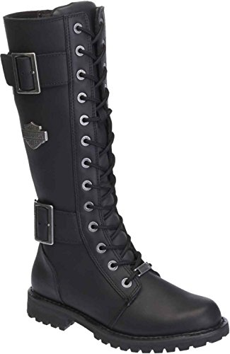 Harley-Davidson Women's Belhaven Knee-High Motorcycle Boots. D87082 (Black 7.5)