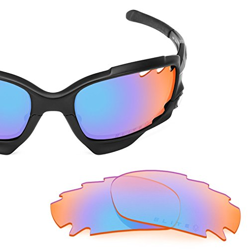 - Revant Replacement Lenses for Oakley Racing Jacket Vented Elite Tracer Orange MirrorShield