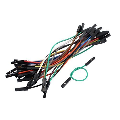 EbuyChX 29PCS 2.54mm Pitch 1P Babae breadboard Double Head Jumper Wire Cable 10cm ()