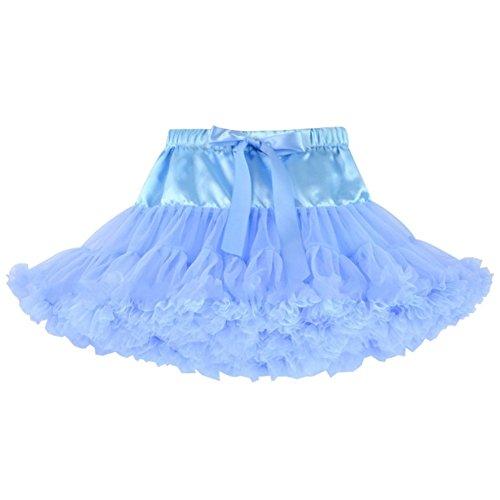 (Honeystore Baby Girl's Sky Blue Baby Pettiskirts Toddler Tutu Skirt Halloween Costume X-Small Sky)