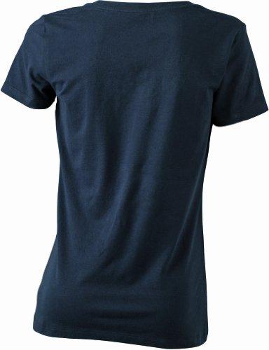 James & Nicholson T-Shirt Stretch Round-T - Camisa de maternidad Mujer, Negro (black), Small (Talla del fabricante: Small)