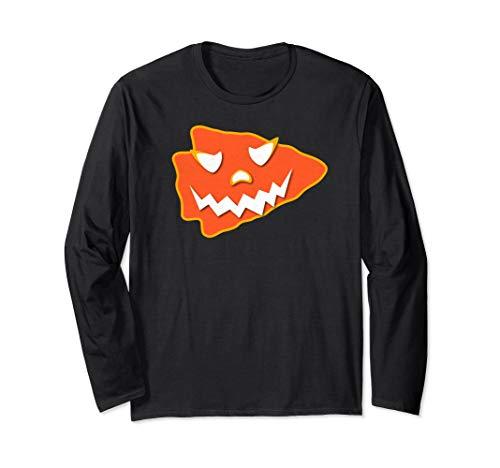 KC Football Halloween Arrowhead Kansas City Scary Kc Costume Long Sleeve T-Shirt