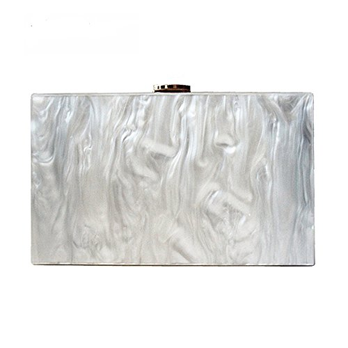 Dirmmis new wallet fashion women messenger bag pearl Acrylic Clutch pure white shoulder Evening bag