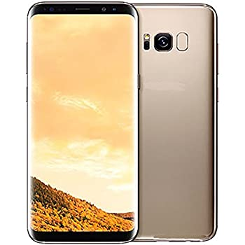 "Samsung Galaxy S8+ 64GB Unlocked Phone - 6.2"" Screen - International Version (Maple Gold)"