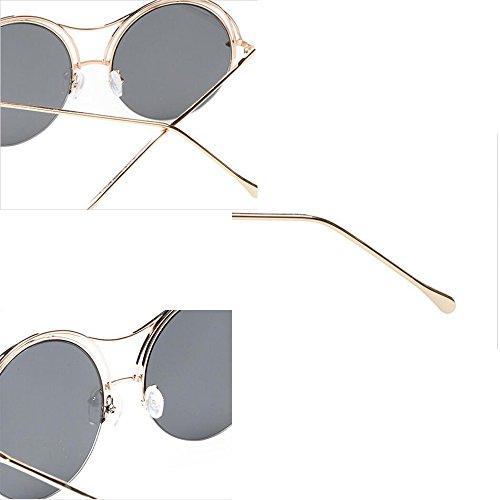 de lunettes neutres réfléchissantes lunettes circulaires lunettes de Petites soleil Uv Black lunettes soleil polarisées GAOLIXIA soleil de xwqpSnA8g