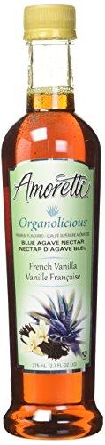 Organic French Vanilla Syrup - Amoretti Premium Organolicious Flavored Blue Agave Nectar, French Vanilla, 12.7 Fluid Ounce