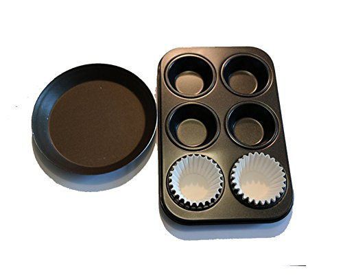 Non Stick Pans for Easy Bake Ovens. Cupcake and Round Pan