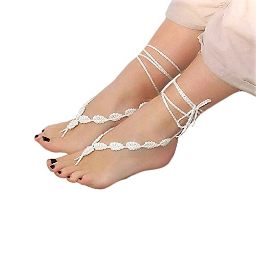 314883462684c We Analyzed 134 Reviews To Find THE BEST Barefoot Sandals Lace Wedding
