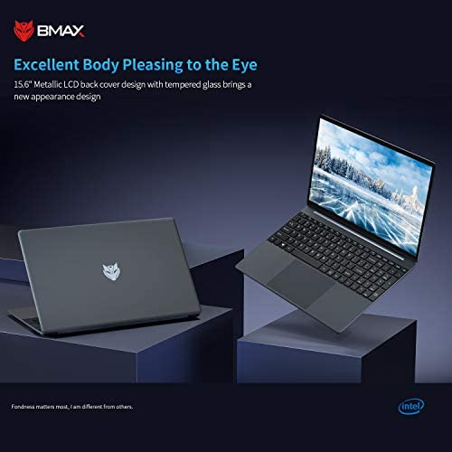 "BMAX X15 LAPTOP COMPUTERS, 15.6"" FHD (1920 X 1080) DISPLAY, INTEL CELERON N4120 UP TO 2.6 GHZ, 8GB DDR4, 128GB SSD STORAGE, HDMI, WEBCAM, WI-FI, WINDOWS 10 - SPACE GREY"