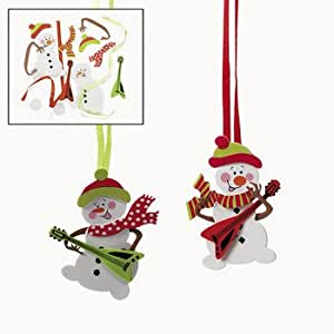 Snowman with guitar ornament craft kit for Amazon arts and crafts for kids