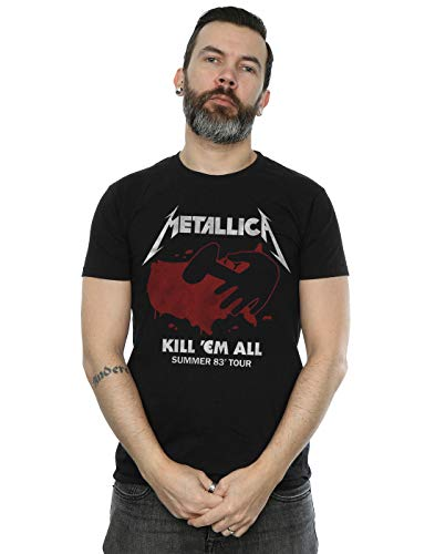 Absolute Cult Metallica Men's Kill Em All Tour T-Shirt Black Medium