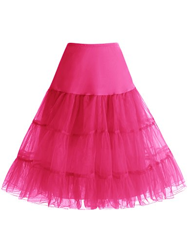 Bbonlinedress Jupon Femme Style anne 50 Jupon Rockabilly 4 Tailles  Choisir Fuchsia