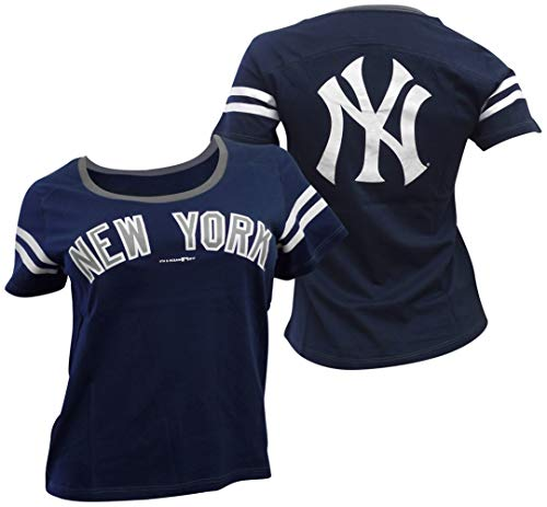 - 5th & Ocean New York Yankees Women's Baby Jersey S/S Scoop Neck X-Large