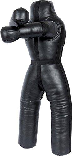LEATHERAY MMA Jiu Jitsu Judo Punching Bag Grappling Dummy Black Synthetic Leather-70 -