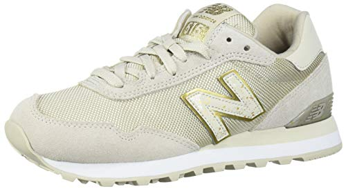 New Balance Women's 515v1 Sneaker, Oyster/Gold Metallic, 11 D US