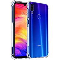 Tarkan Shock Proof Protective Soft Back Case Cover for Redmi Note 7 & Note 7s & Note 7 Pro (Transparent) [Bumper Corners with Air Cushion Technology]
