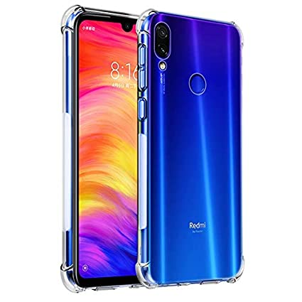 new style 62ca4 49ebf Tarkan Shock Proof Protective Soft Back Case Cover for Redmi Note 7 & Note  7s & Note 7 Pro (Transparent) [Bumper Corners with Air Cushion Technology]