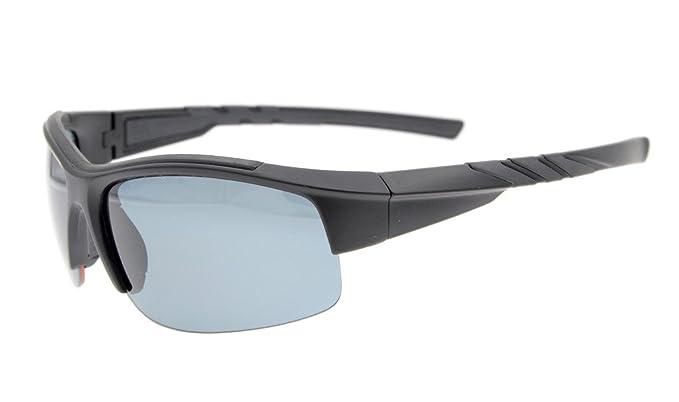 Eyekepper Lunettes de soleil Polycarbonate polarisees Sport homme femme Baseball Peche Courir Conduite Golf Randonnee TR90, Silver/Grey Lens, taille unique